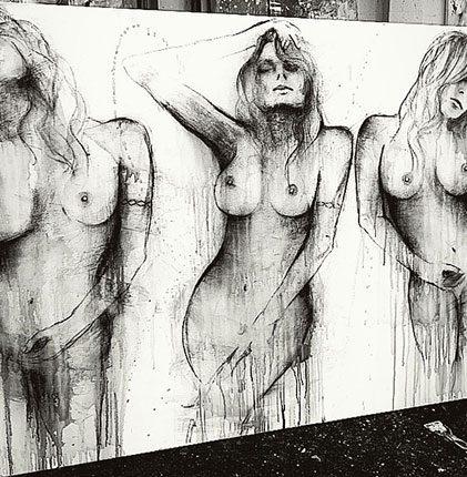'Soul Deep'-Charcoal-artwork-by-artist Melissa-Labozetta