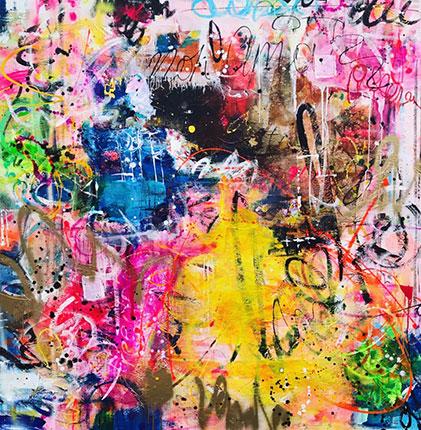 Colourful Abstract artwork by artist Melissa La Bozzetta